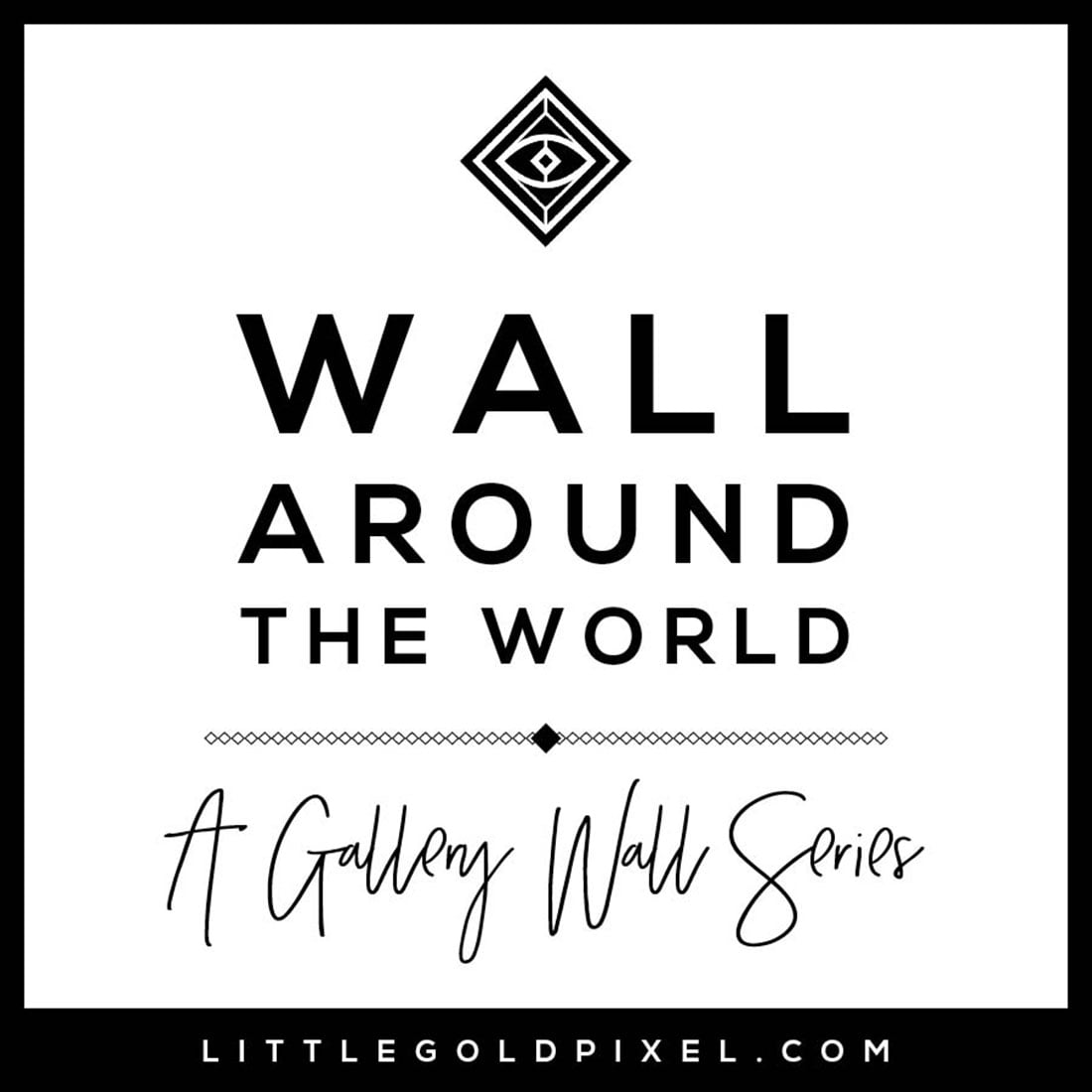 Wall Around the World: A Gallery Wall Series by Little Gold Pixel • Part 4: Upcylced Eclectic Gallery Wall in England • Modern, glam, thrifted • #hometour #decorideas #interiors
