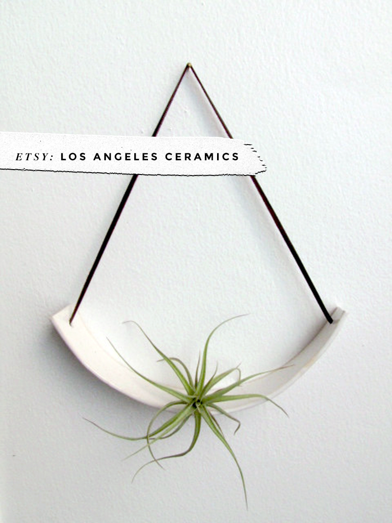 8 Awesome Air Plant Hangers • Little Gold Pixel • Los Angeles Ceramics