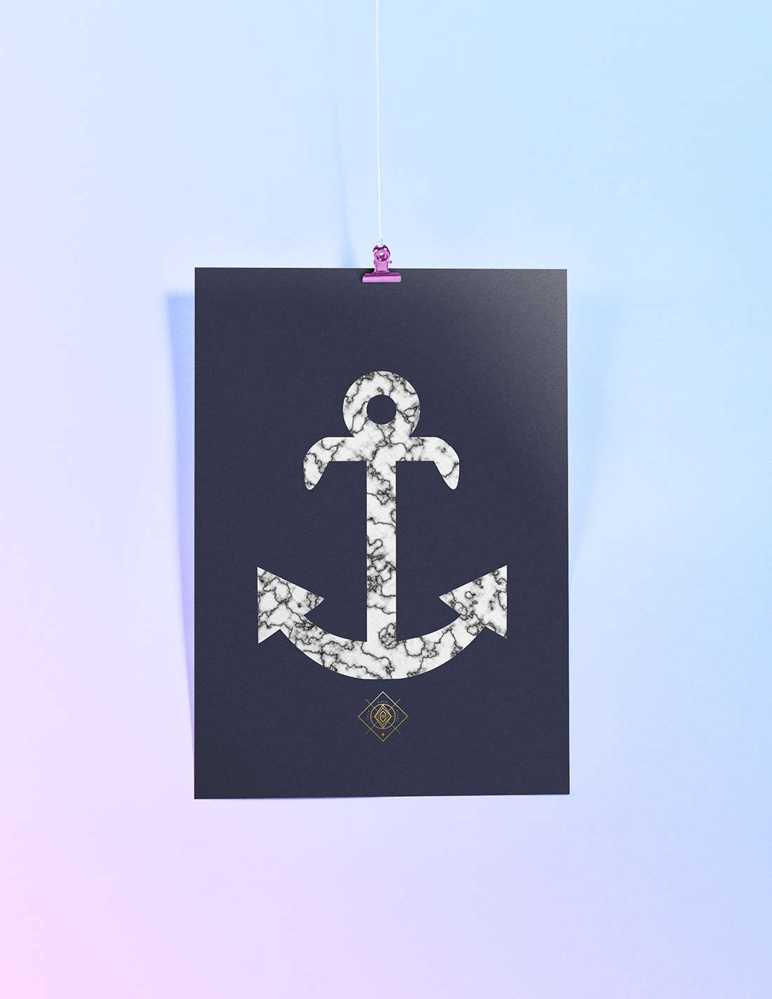 Free Marble Anchor Printable • Little Gold Pixel