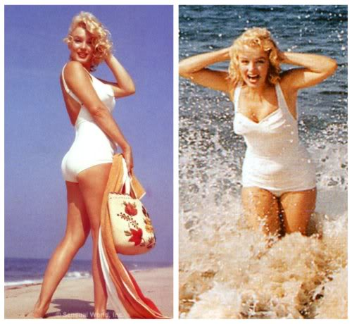 b284cfb526e Fashion Forward: 1950s Swimsuits • Little Gold Pixel