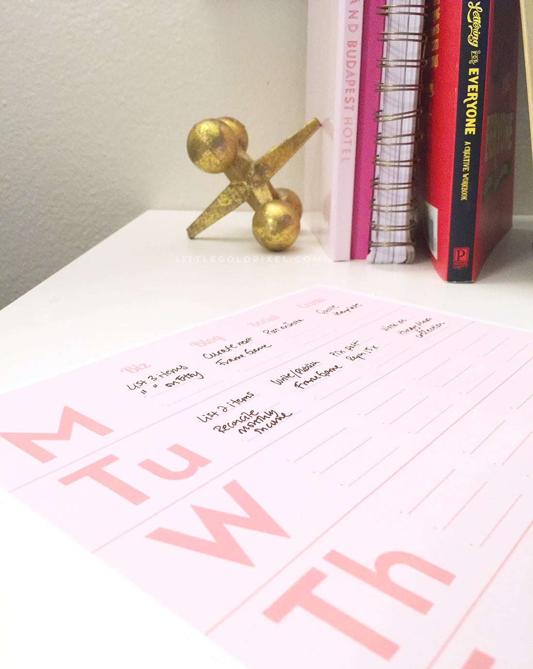 How a Minimal Business Planner Can Save Your Sanity + Free Printable • Little Gold Pixel
