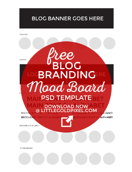 How to Create an Identity Mood Board for Your Blog + Free Template • Little Gold Pixel