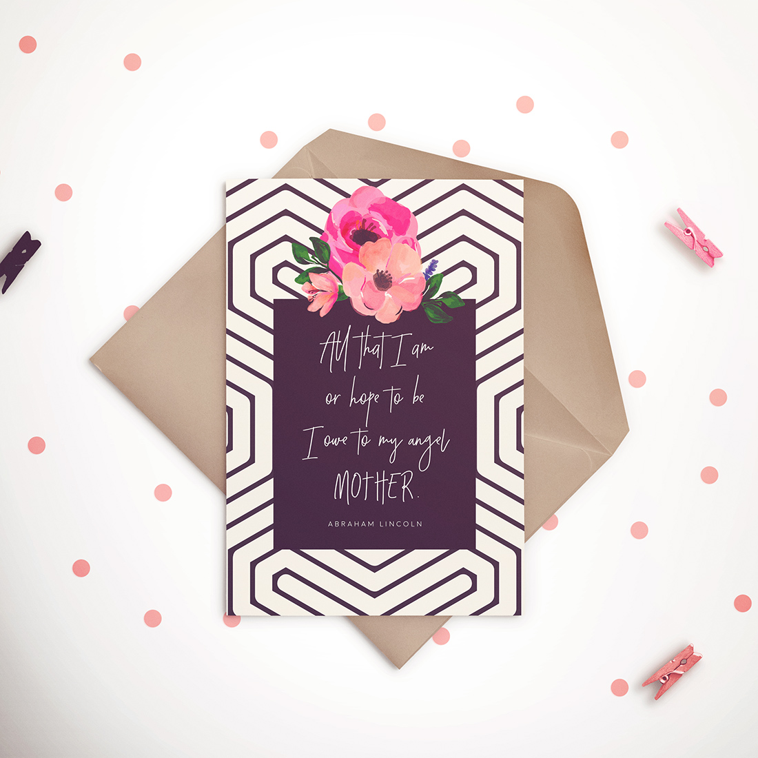 Free Mother's Day Card Lincoln Quote • Little Gold Pixel