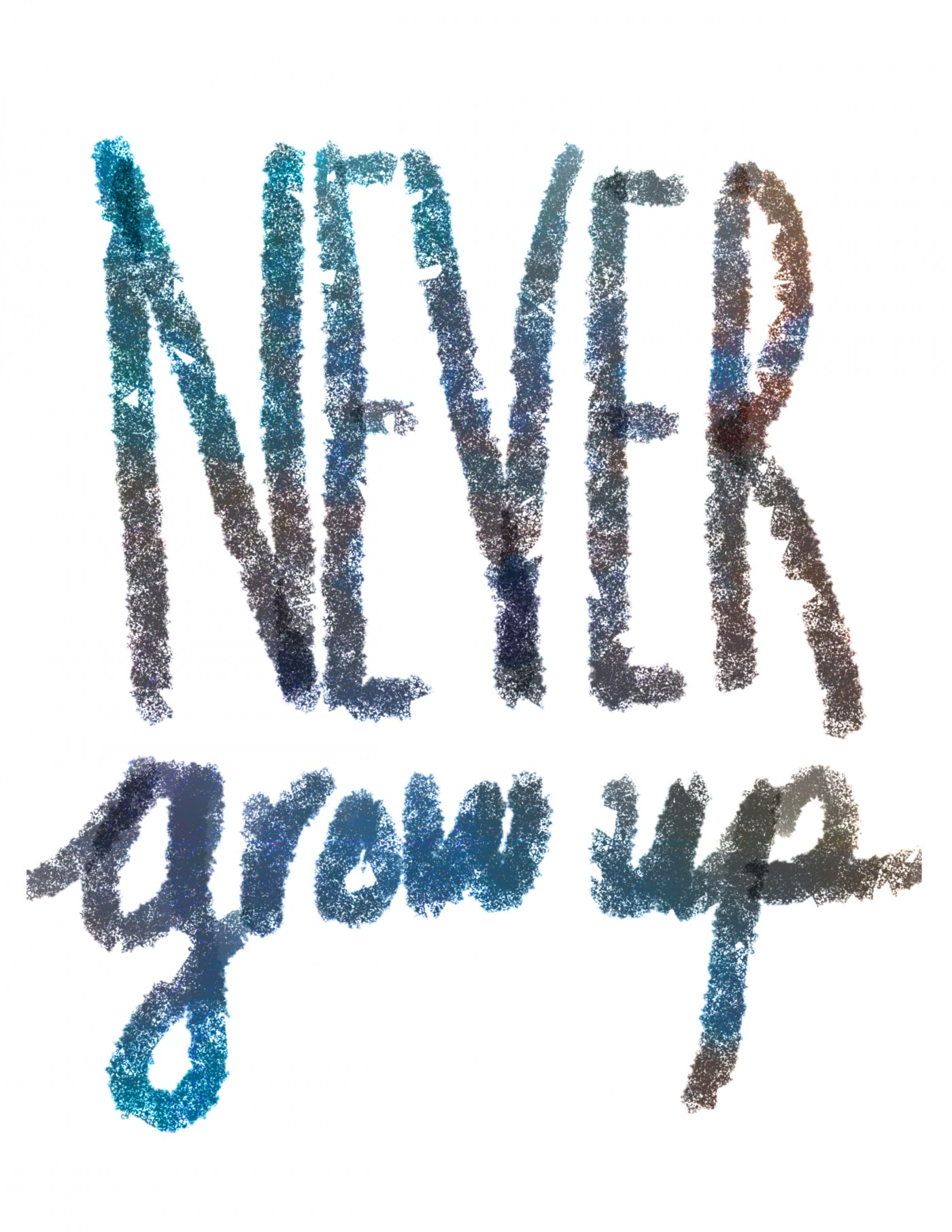 Never Grow Up • Little Gold Pixel • Free Printable