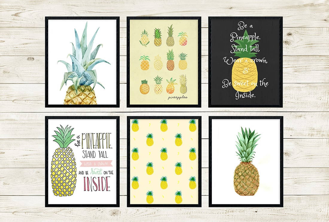 photograph regarding Free Printable Pineapple named No cost Pineapple Printables Incredible Roundup Minimal Gold Pixel