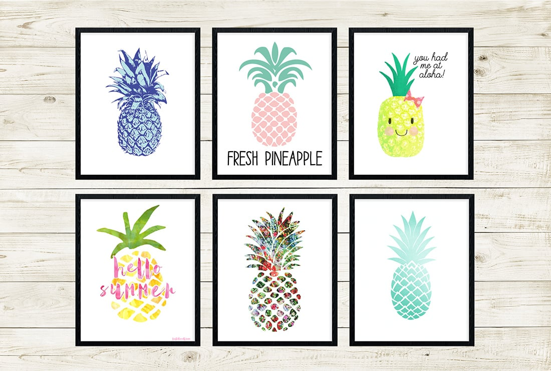 photograph regarding Free Printable Pineapple named Cost-free Pineapple Printables Incredible Roundup Small Gold Pixel