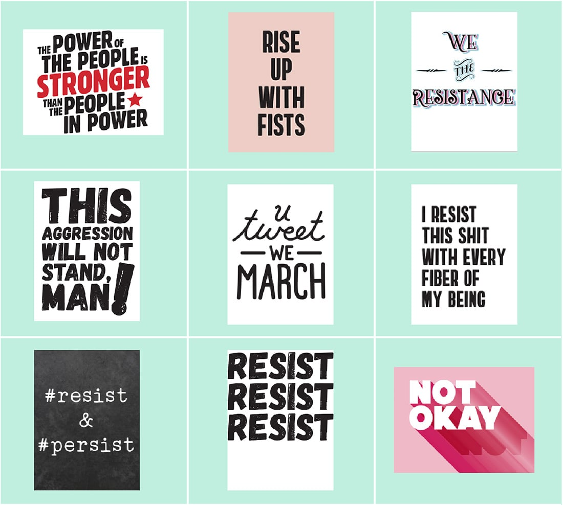 18 Evergreen Protest Printables (for Any March!) • Little Gold Pixel