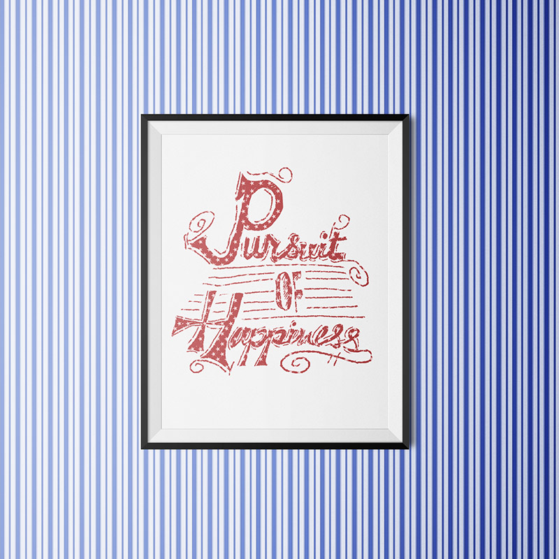 July Fourth Free Art Printable • littlegoldpixel.com
