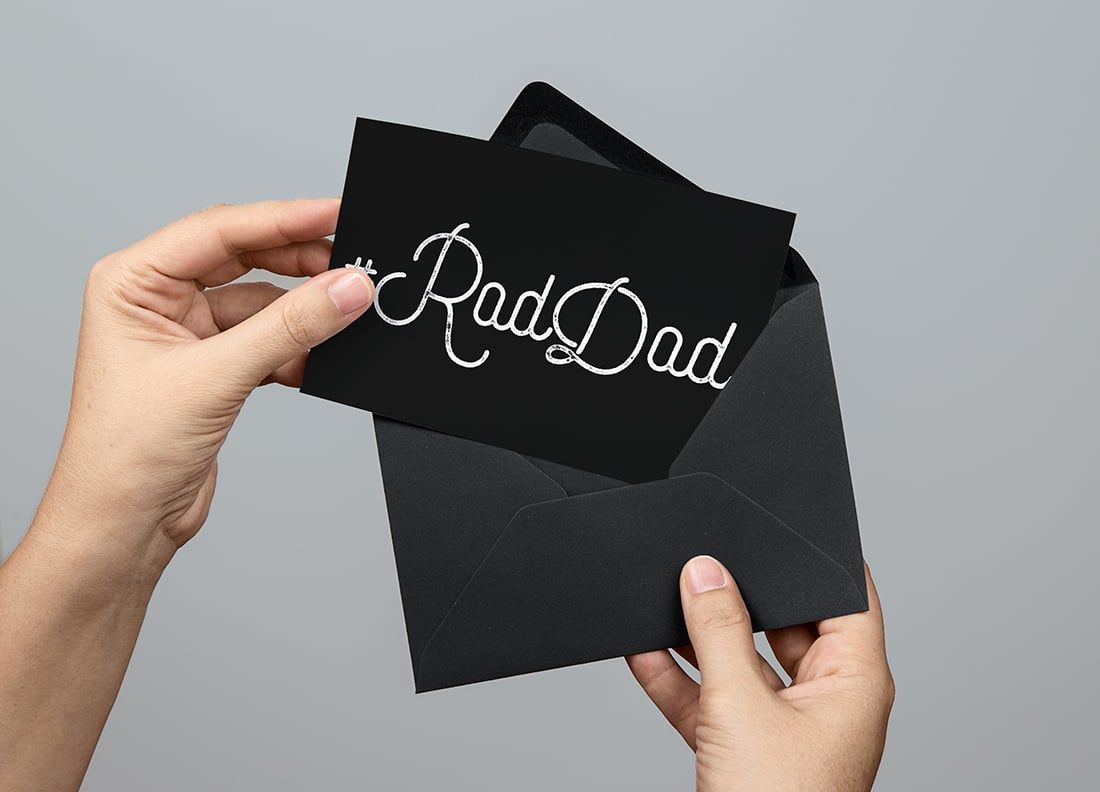 Rad Dad Father's Day Card • Little Gold Pixel