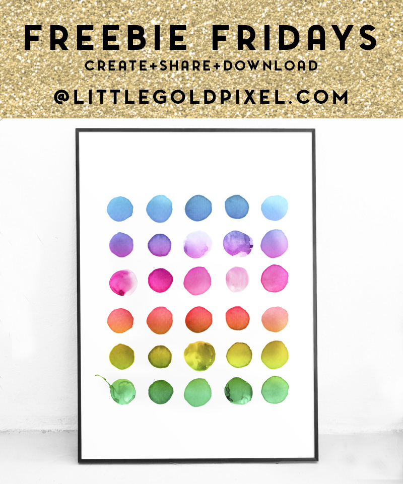 Abstract Rainbow Free Art Printable / Freebie Fridays • Little Gold Pixel