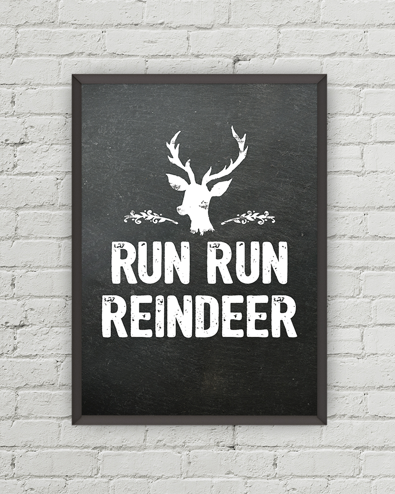 Run Run Reindeer Beach Boys Free Chalkboard Christmas Printable • Little Gold Pixel