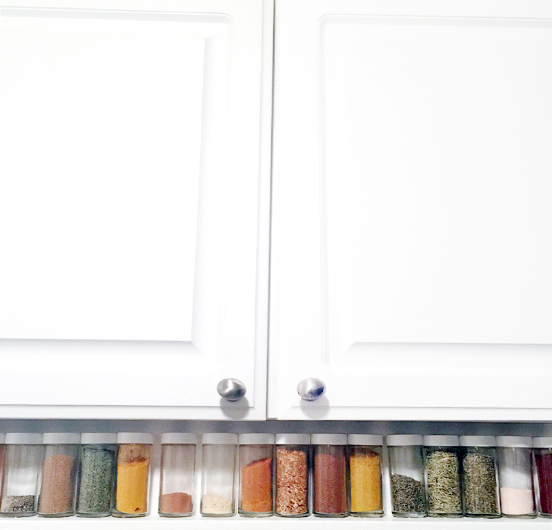 Spice Rack Makeover in 3 Steps • Little Gold Pixel