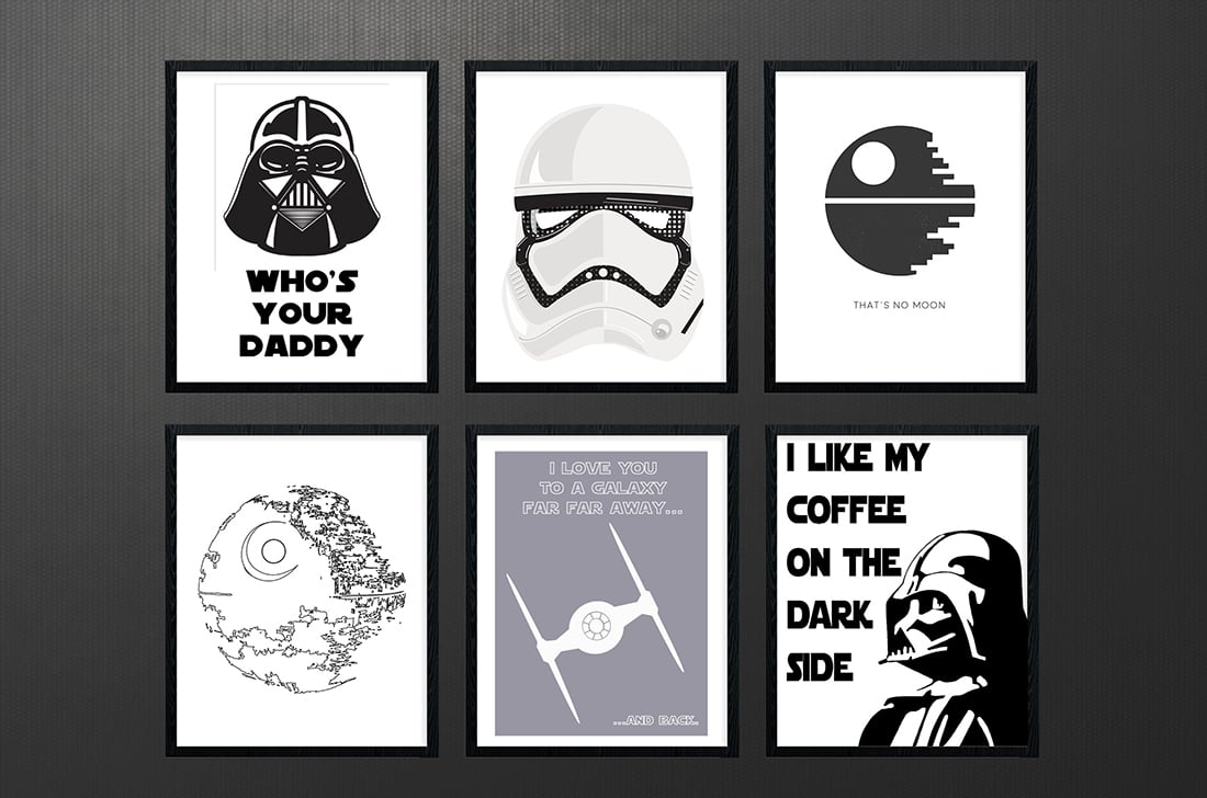 photo regarding Printable Star Wars Images known as Star Wars Cost-free Printables A Roundup Tiny Gold Pixel