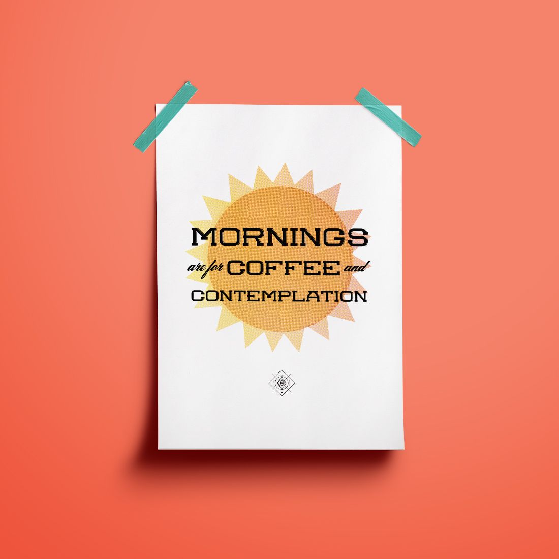 Stranger Things Free Art Printable Mornings Are for Coffee and Contemplation •Little Gold Pixel