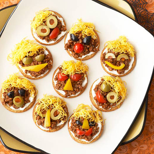 Taco Pumpkins • 13 Halloween Party Recipes • Little Gold Pixel via bhg.com