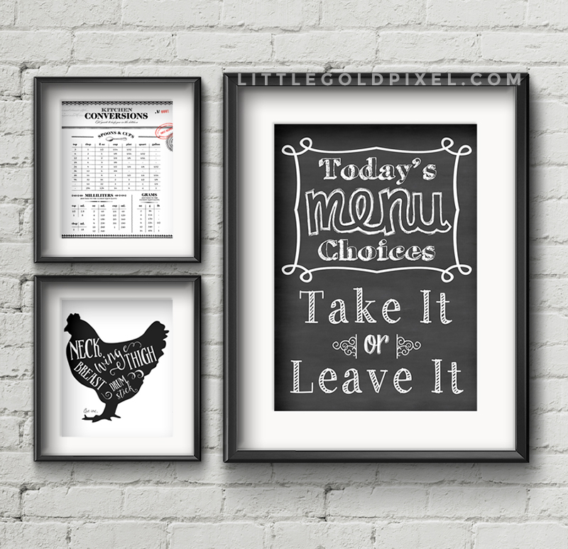 This is a photo of Free Kitchen Printable pertaining to cute