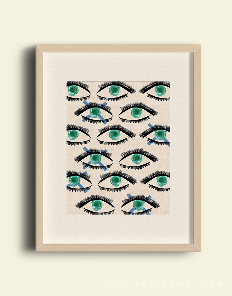 Kaleidoscope Eyes Free Art Printable by Little Gold Pixel • Shared on http://www.remodelaholic.com/ • littlegoldpixel.com