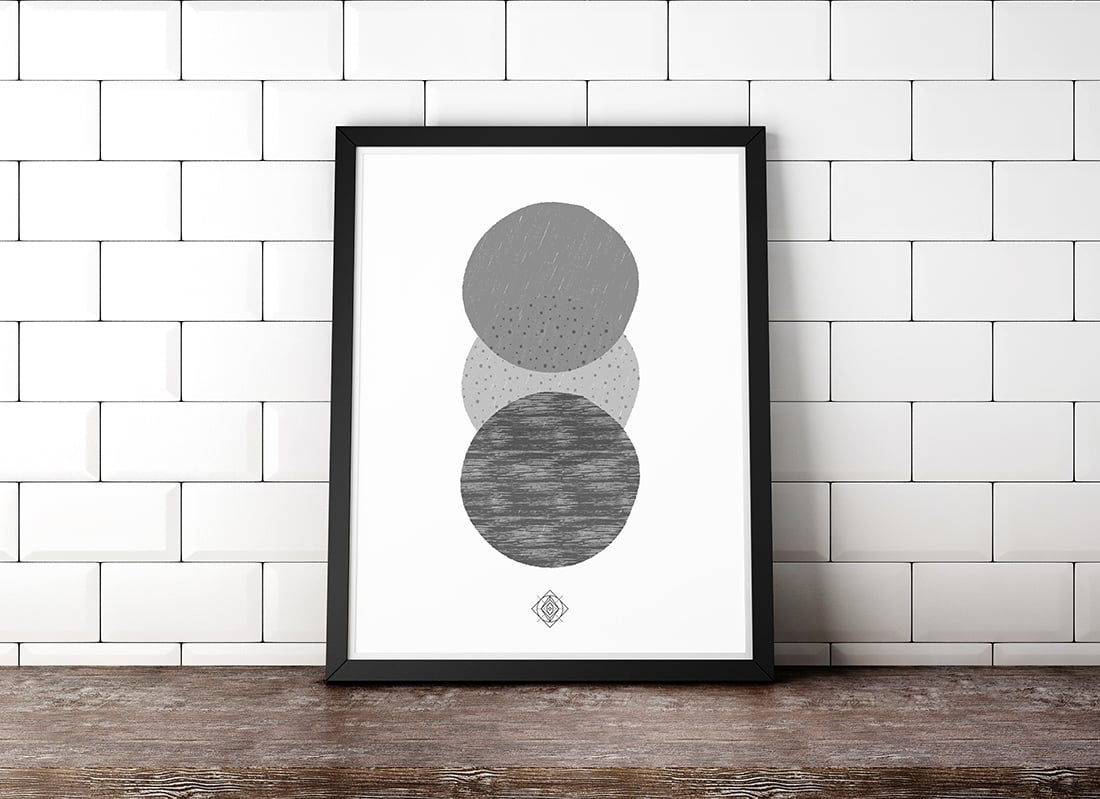 Free Scandi Art Printable • Freebie Fridays • Little Gold Pixel