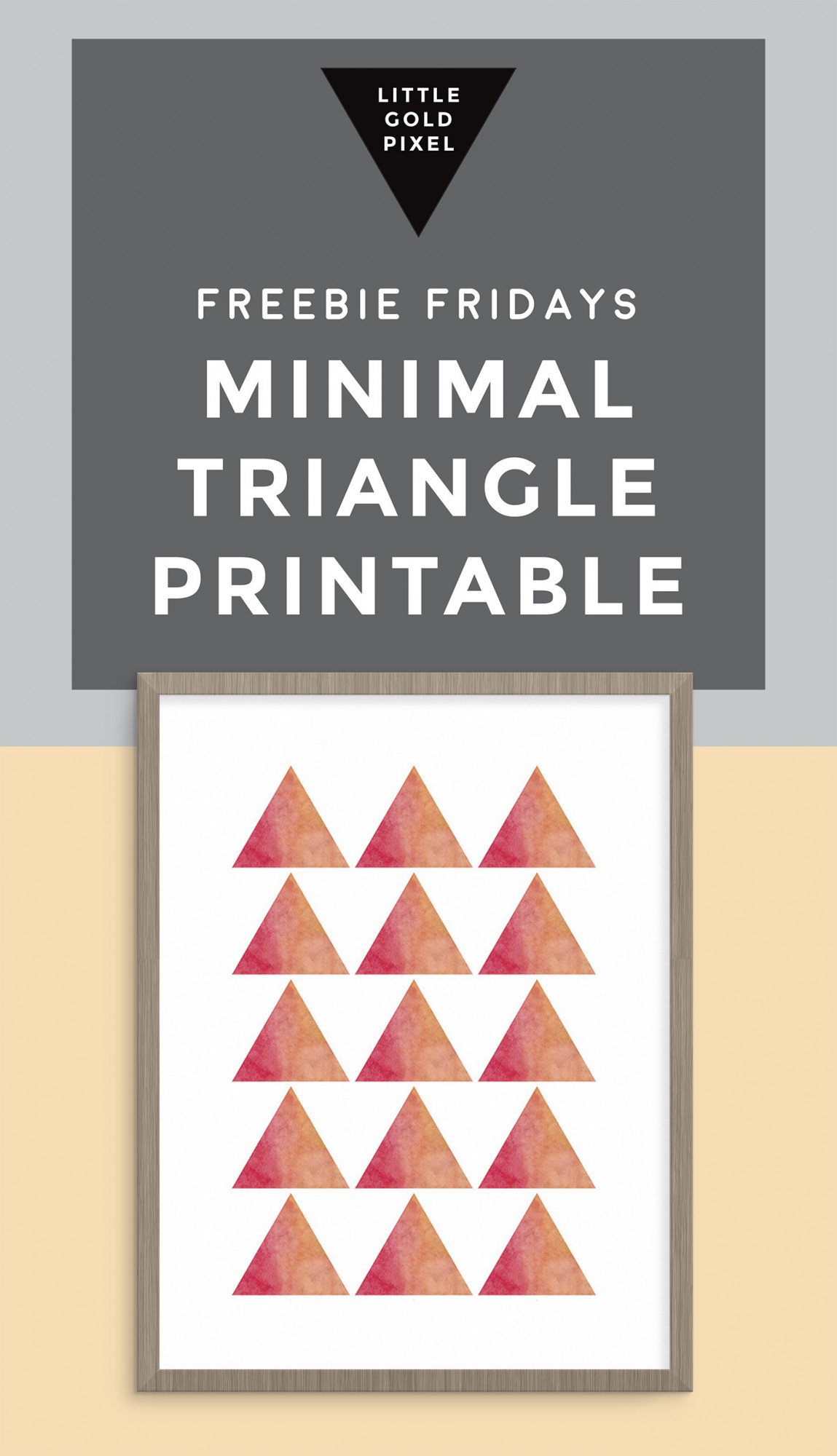 Minimal Triangle Pattern Art Printable / Freebie Fridays • Little Gold Pixel