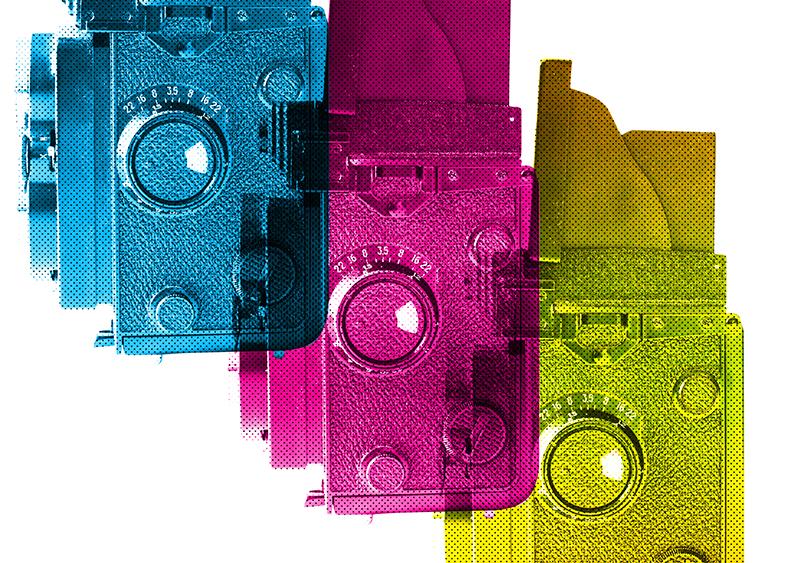 Tri-Color Cameras Free Art Printable •littlegoldpixel.com