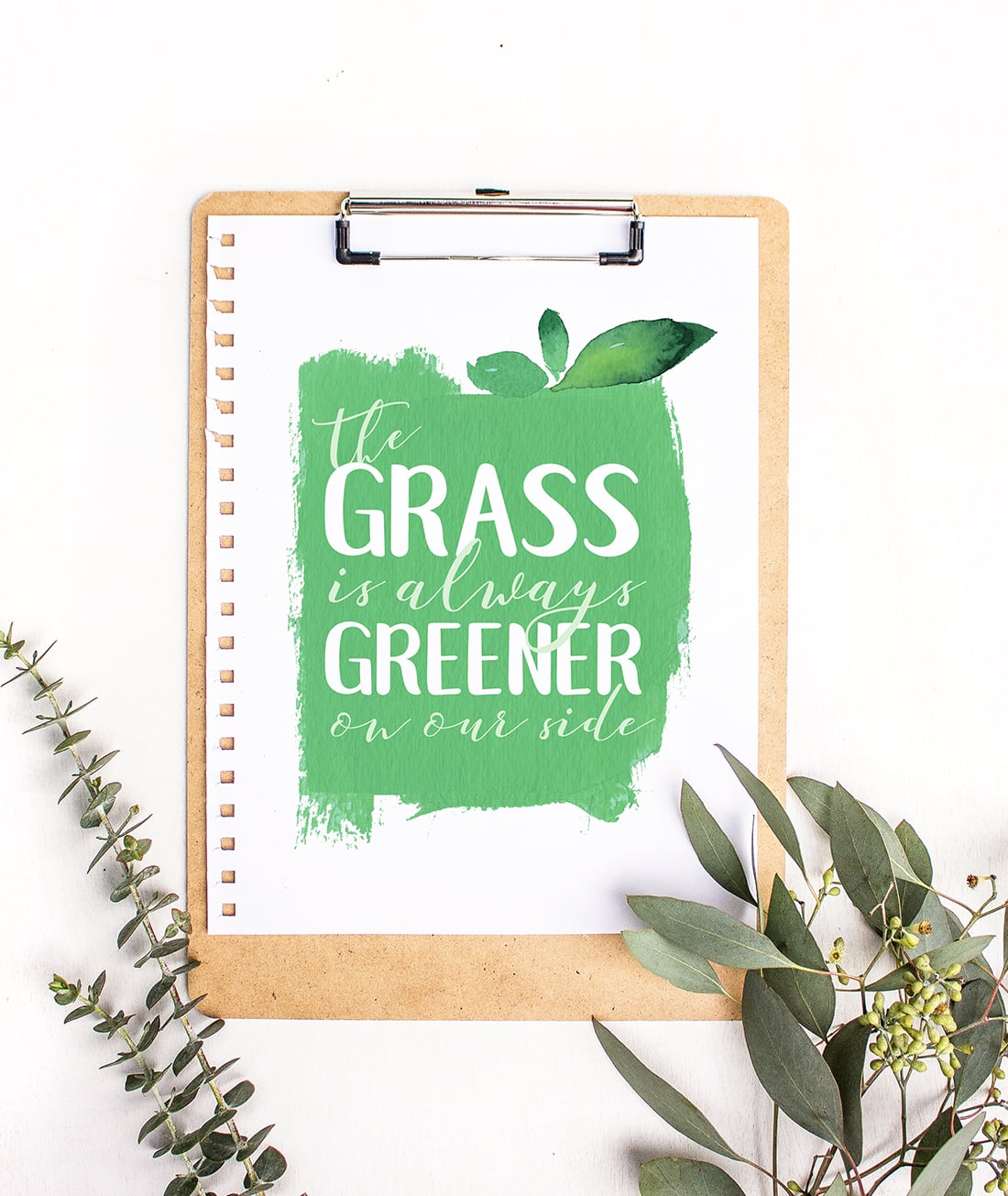 Grass Is Greener Free Art Printable • Little Gold Pixel