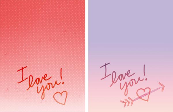 free printable valentine cards • little gold pixel