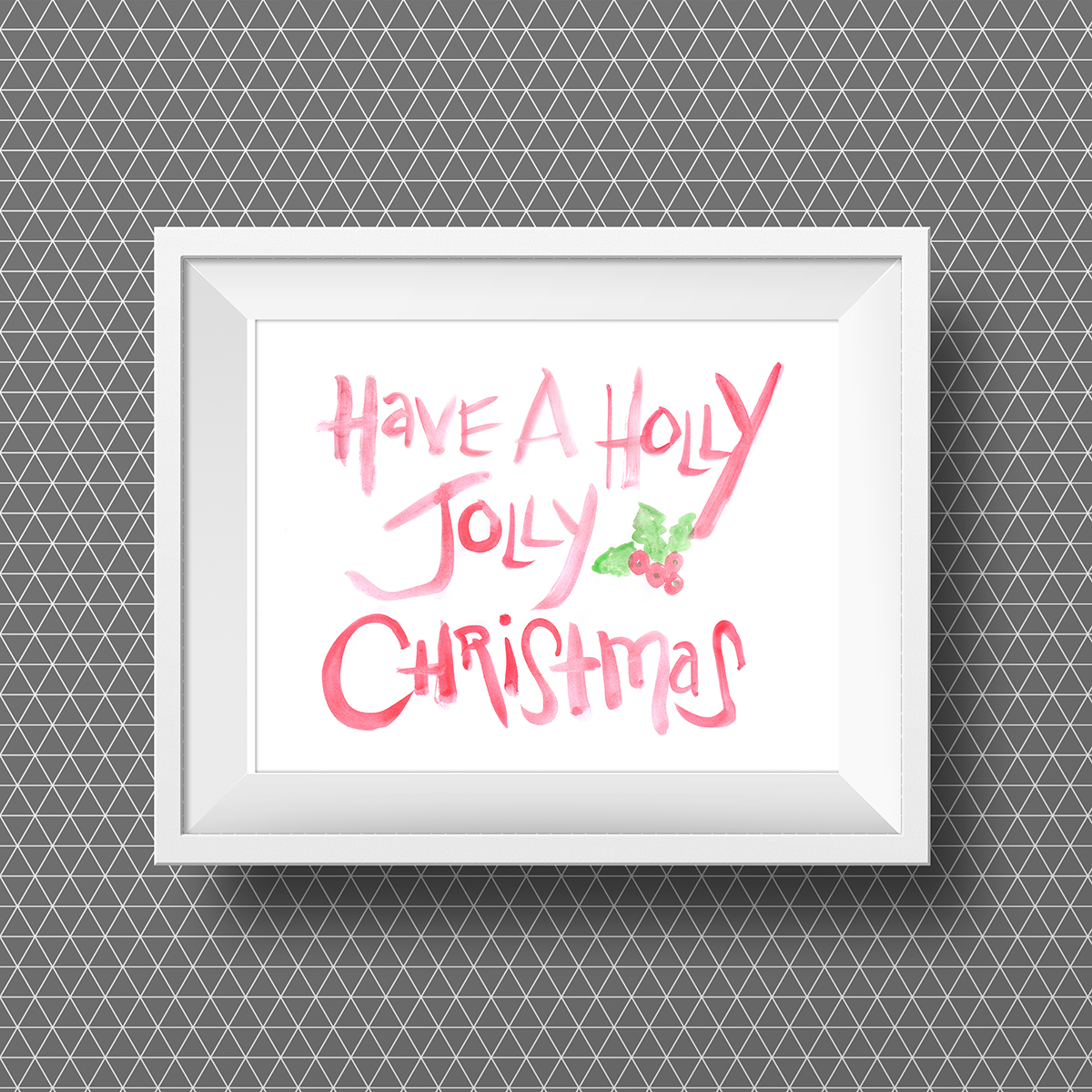 Have a Holly Jolly Christmas Free Watercolor Printable • Little Gold Pixel