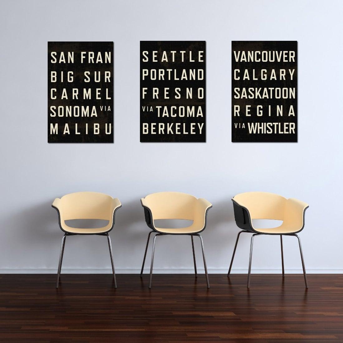 West Coast Subway Prints via Going Underground
