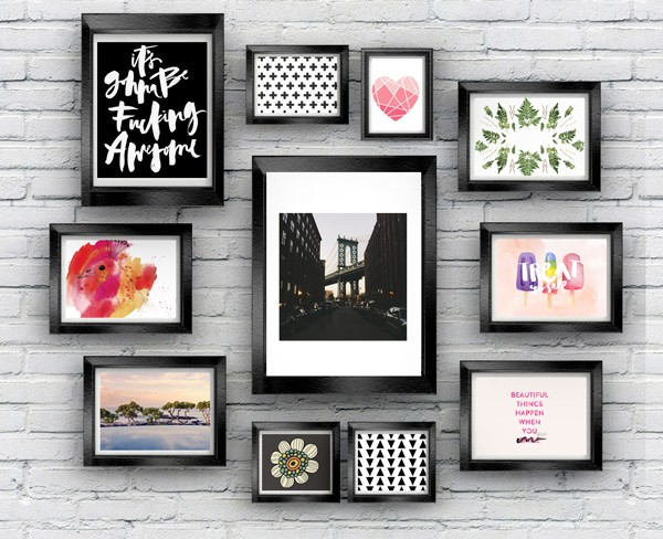 This is a graphic of Adorable Gallery Wall Printables