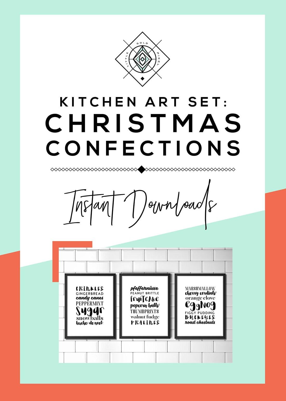 Christmas Confections Art Printables • Little Gold Pixel