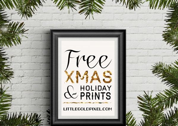 Free Christmas Printables to Spiffy Up Your Holiday Decor • littlegoldpixel.com • 35+ stylish, modern, minimal holiday finds!