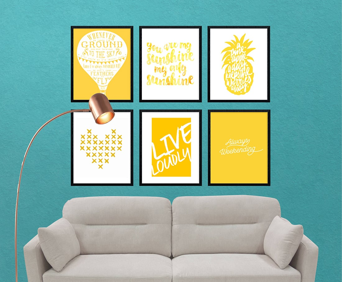 Yellow Gallery Wall • Little Gold Pixel